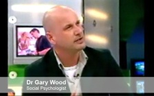 Pic: Dr Gary Wood on TV