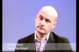 Pic: Social Psychologist Dr Gary Wood on TV discussing gender stereotypes