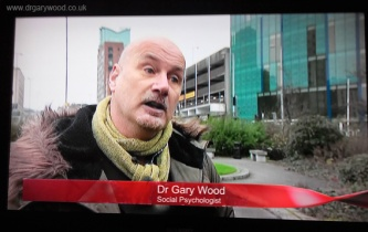 Pic: Social Psychologist Dr Gary Wood on BBC's Inside-Out
