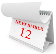 The Twelve of Nevermber - the date for your goals.