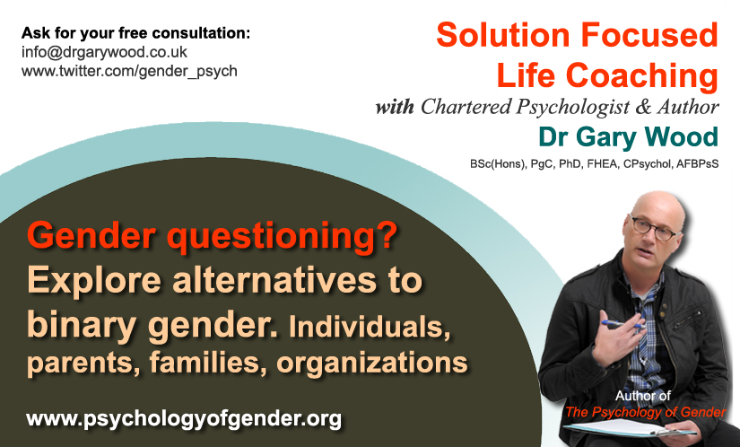 Pic: Gender questioning coaching with Dr Gary Wood