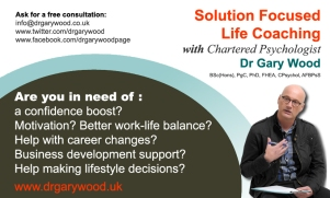Pic: Advert for Coaching Services from Dr Gary Wood