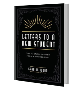 Pic: Book cover for 'Letters to a New Student' by Dr Gary Wood
